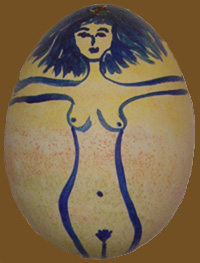 Easter Egg Woman Side