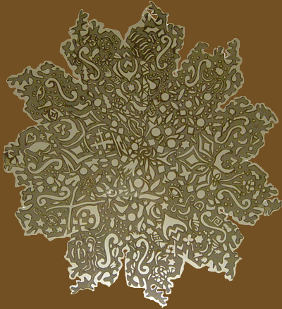 Snowflake Asymetrical Paper Cutting